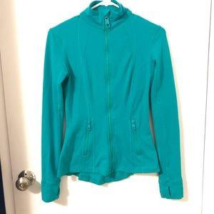 Turquoise athletic jacket